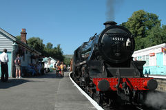 Steam train. A UK steam train stock photography
