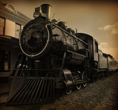 Steam Train. Old looking photo of steam train Stock Photos