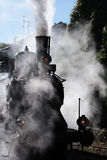 Steam train. With back lighting Royalty Free Stock Images