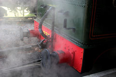 Steam train. Back of steam train showing buffers Stock Images