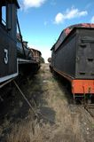 Steam Train. Old Steam Engine and carriage royalty free stock images