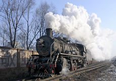 Steam train. Heilongjiang province in china jixi running steam train royalty free stock images