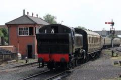 Steam train arriving at Kidderminster station Stock Images