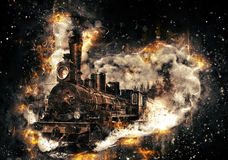 Steam train. Royalty Free Stock Photo