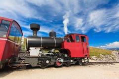 Steam train in a beautiful alpine landscape. Stock Images