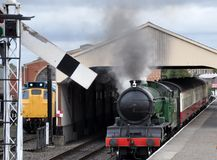 Steam train at Bo'ness Stock Image