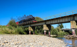 Steam Train Bridge Stock Image