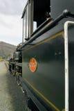 Steam train cab Stock Photo