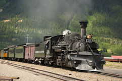 Steam train carrying tourists in Silverton, CO. Stock Image