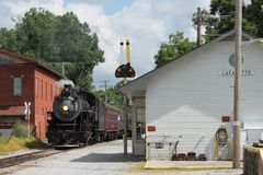 Steam train from Chattanooga, TN to Summerville, GA Stock Images