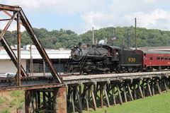Steam train from Chattanooga, TN to Summerville, GA. Lionel Collectors Club of America excursion train ride from the Choo-Choo hotel in Chattanooga, TN to stock images