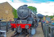 Steam train 44806 closeup  at Pickering Stock Photography
