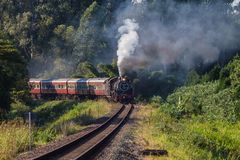 Steam Train Coaches landscape Stock Image