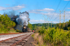 Steam train coming Stock Photo