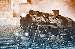 Steam train. Royalty Free Stock Photography