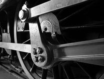 Steam train details Stock Photo