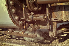 Steam train details Royalty Free Stock Photo