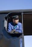 Steam train driver Stock Image
