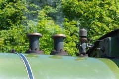 Steam train engine regulator Stock Photo