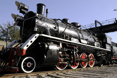 Steam train in the factory Stock Image