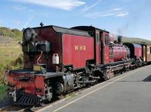 Steam train. Ffestiniog Blaenau steam heritage railway station loco locomotive snowdonia national park gwynedd Wales heritage history tourism germs red Royalty Free Stock Images