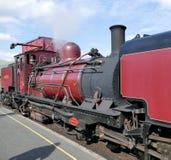 Steam train. Ffestiniog Blaenau steam heritage railway station loco locomotive snowdonia national park gwynedd Wales heritage history tourism germs red Royalty Free Stock Image
