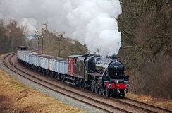 Steam train freight special Stock Image