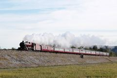 Steam train Galatea near Grange-over-Sands Cumbria Royalty Free Stock Photography