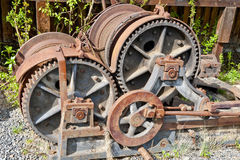 Steam train gears Royalty Free Stock Photo