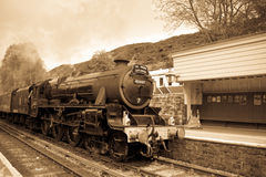 Steam train at Goathland Stock Photography