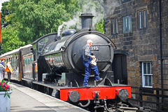 Steam train at Grosmont Stock Image