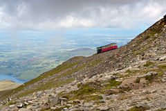 Steam Train heading to Snowdon Royalty Free Stock Photos
