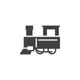 Steam train icon vector Stock Photos