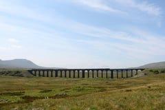 Steam Train, Ingleborough, Ribblehead viaduct Royalty Free Stock Photos