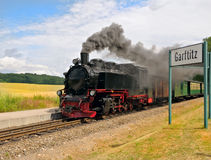 Steam train on island Rugen royalty free stock image