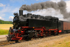 Steam train on island Rugen Royalty Free Stock Photo