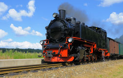 Steam train on island Rugen, Germany Royalty Free Stock Photography