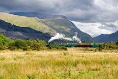 Steam train in Llamberris Stock Photo