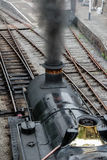 Steam train. In llangollen in wales. puffing thick black smoke into the welsh air Royalty Free Stock Photography