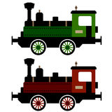 Steam train locomotive. Illustration for the web Royalty Free Stock Photos