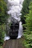 Steam Train. Steam locomotive , historic train on the track in the Czech Republic Stock Image