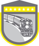Steam Train Locomotive Retro Shield Royalty Free Stock Photo