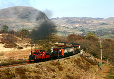 Steam Train in Mountains 11. Steam train running through the mountains on the Ffestiniog Railway, Wales, UK Stock Photography