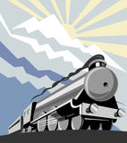 Steam train with mountains Stock Images