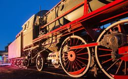 Steam train at night Stock Photography