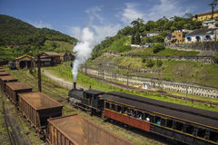 Steam train in Paranapiacaba - Brazil Stock Images