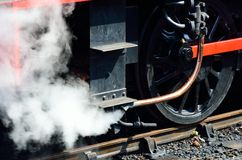 Steam from train pipe Stock Image