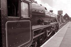Steam Train on Platform Stock Photo