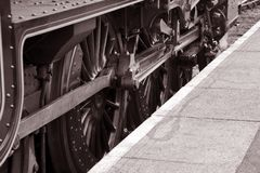 Steam Train on Platform Royalty Free Stock Images