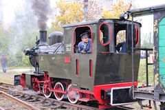 Steam train in Poland stock photography